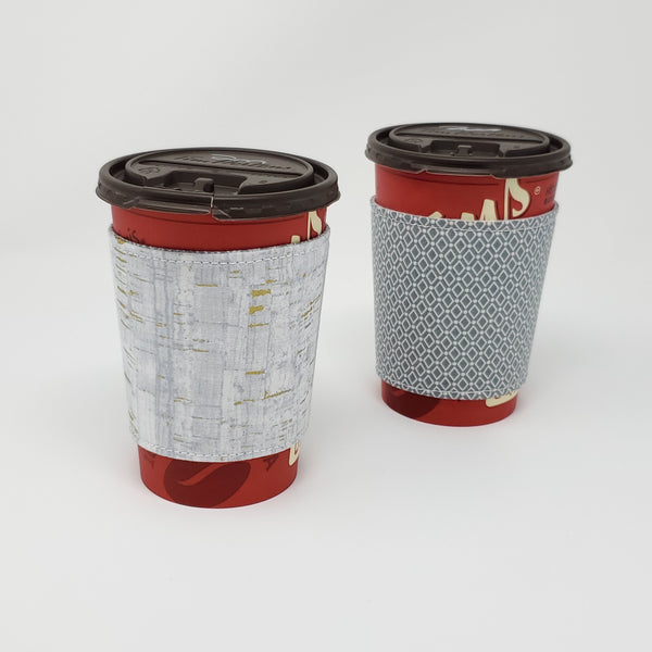 Reusable cup cozy - Uncorked (grey) - Pictured on a medium Tim Horton's cup