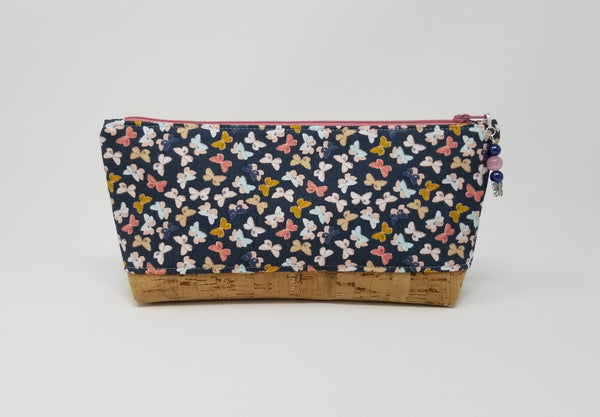 Essential Oil Bag - Butterflies with natural cork base