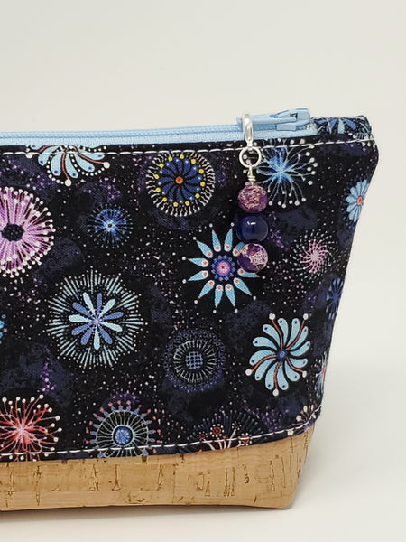 Essential Oil Bag - Dandelions and Pinwheels - Charm Close Up