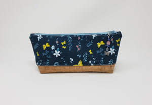 Essential Oil Bag - Navy Butterflies - Exterior