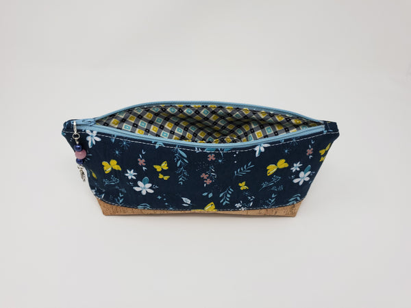Essential Oil Bag - Navy Butterflies - Interior