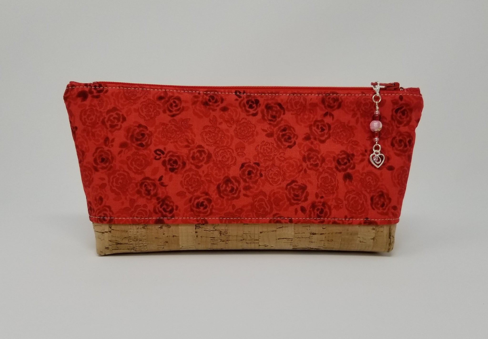 Essential Oil Bag - Red Roses with natural cork base