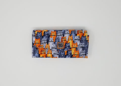 Necessary Clutch Wallet - Front - Orange Kitties