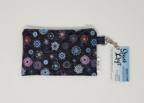 Snack/Cosmetic Bag - Dandelions and Pinwheels