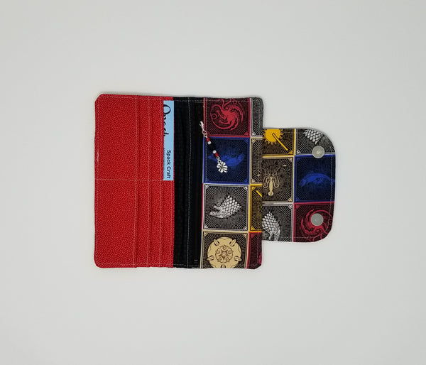 Slimline Wallet - Inside - Game of Thrones House Sigils