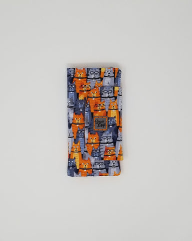 Slimline Wallet - Front - Orange Kitties