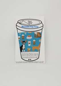 Reusable cup cozy in packaging - Chis and Coffees
