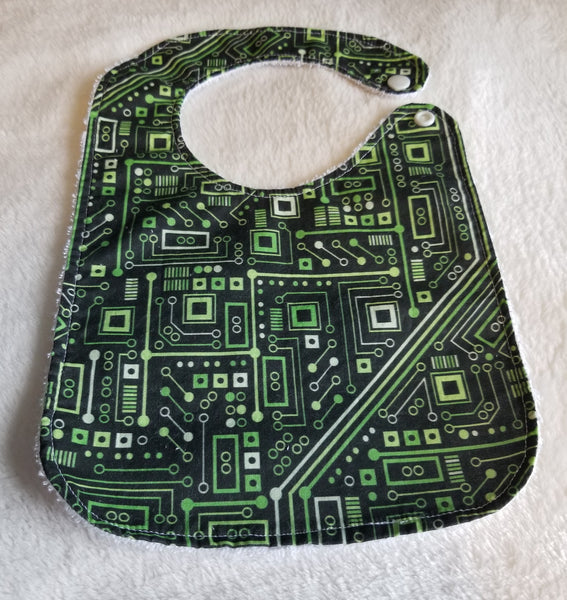 Baby Bib - Short Circuit