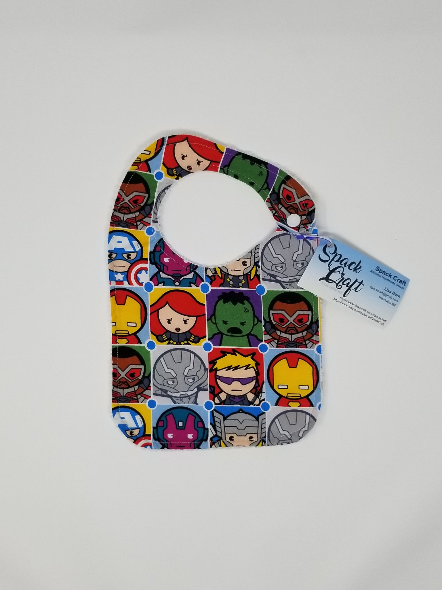 Baby Bib - Cartoon Avengers
