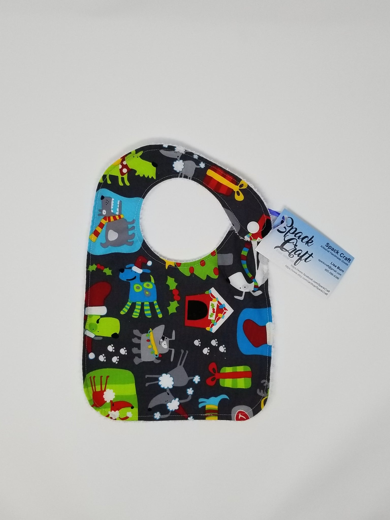 Baby Bib - Christmas Dogs
