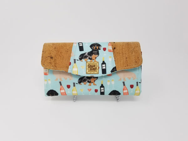 Necessary Clutch Wallet - Wine & Wieners with Cork Accents