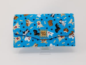 Necessary Clutch Wallet - Aqua Dogs