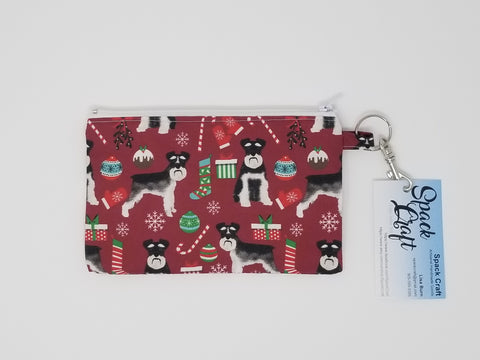 Snack/Cosmetic Bag - Christmas Schnauzers