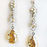 Kate Earrings Champagne & Silver