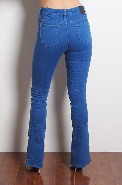 Hustler Flare Jeans - Blue Denim