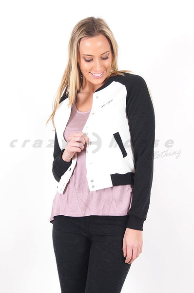 Perfect Catch Quilted Bomber Jacket by Refuge