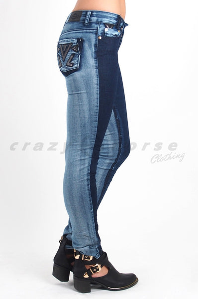 Two Tone Denim Jean