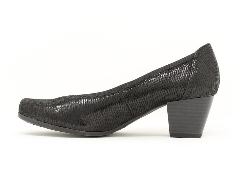 Caprice Sarah Black Reptile Sale ShoeMed