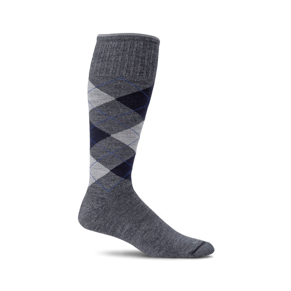 Sockwell Argyle Charcoal 850 ShoeMed