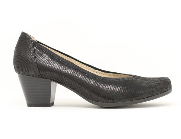 Caprice 22301 010 Black Reptile ShoeMed