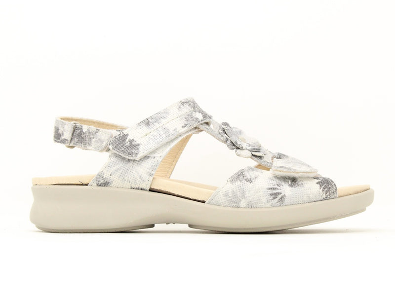 Easy B Pippa 6V Silver Floral Sale ShoeMed