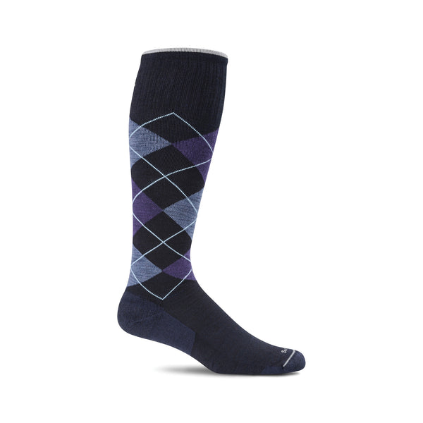 Sockwell Argyle Navy 600 ShoeMed
