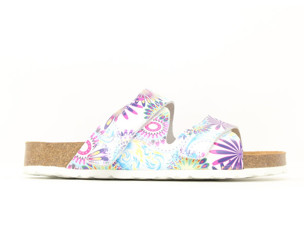 Easy B Maggie 2V White Floral Sale ShoeMed