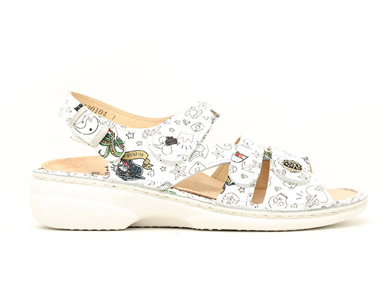 Finn Comfort Gomera Graffiti Weiss Sale ShoeMed