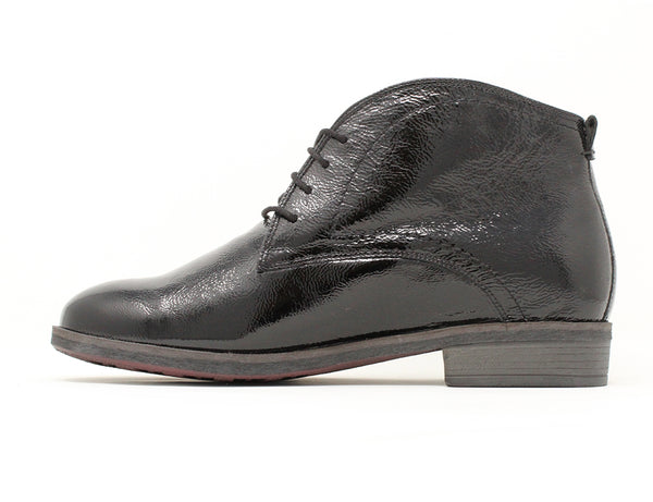 Durea Black Patent Boot ShoeMed