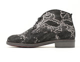 Durea Black Silver Snake Print Boot Sale ShoeMed