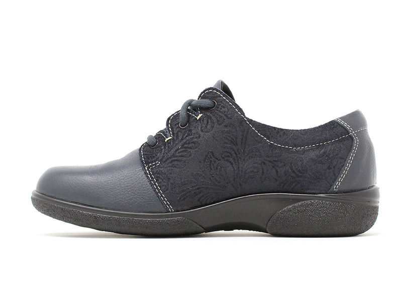 Easy B Glossop 4E Navy ShoeMed