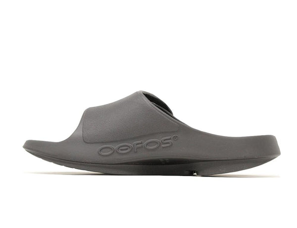 Oofos Men's OOahh Sport Flex Matt Black ShoeMed
