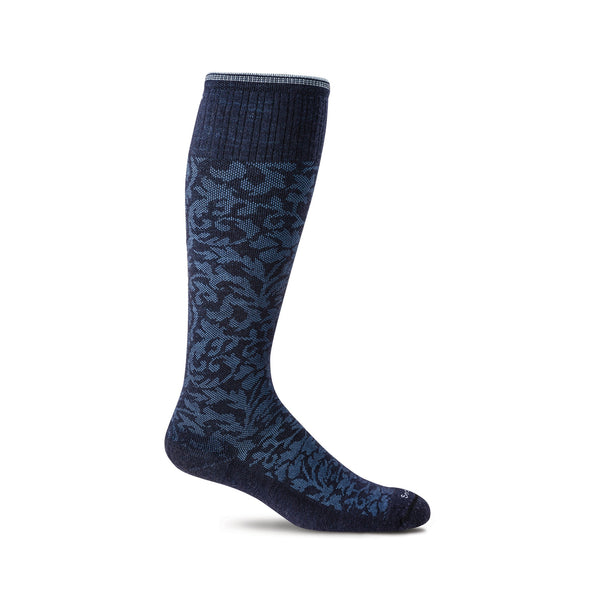 Sockwell Damask Navy 600 ShoeMed