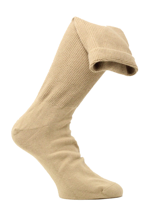 Medalin Fuller Fitting/Odema Long Sock Beige ShoeMed