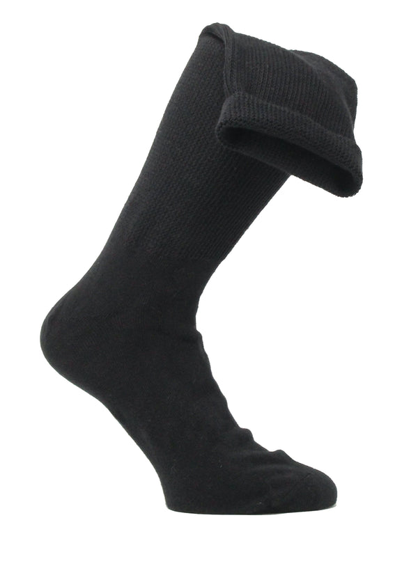 Medalin Fuller Fitting/Oedema Long Sock Black ShoeMed