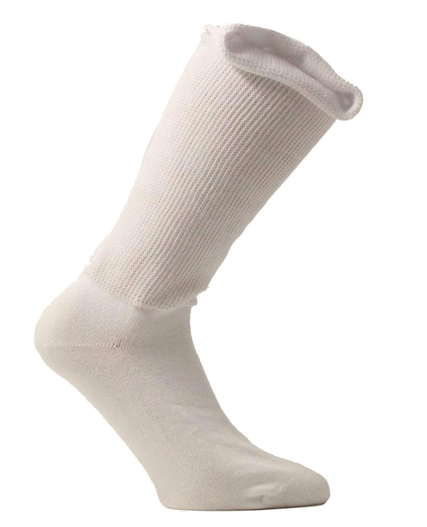Medalin Fuller Fitting/Oedema Long Sock White ShoeMed