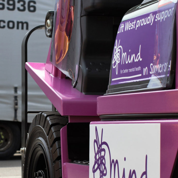 Lift West we are proud to announce our partnership with Mind in Somerset by introducing Mervyn the Mind truck!