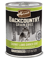 Merrick Backcountry Grain Free Chunky Lamb Dinner - Nickel City Pet Pantry