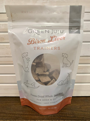 Green Juju Bison Liver Trainers - 3 oz - Nickel City Pet Pantry