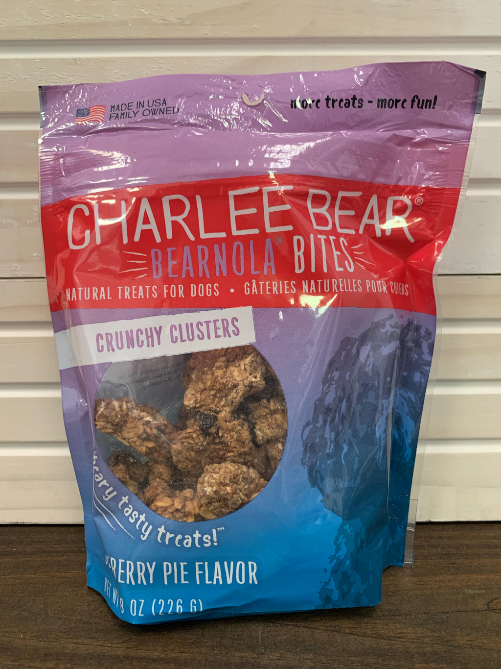 Charlee Bear Bearnola Bites Blueberry Pie Flavor - Nickel City Pet Pantry