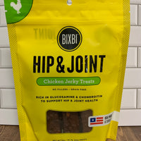 Front of bag of BIXBI Hip & Joint Chicken Jerky Treats