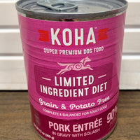Koha Limited Ingredient Pork Entree for Dogs - Nickel City Pet Pantry