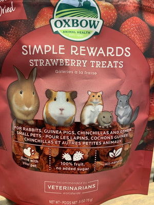 Oxbow Simple Rewards Strawberry Treats - Nickel City Pet Pantry
