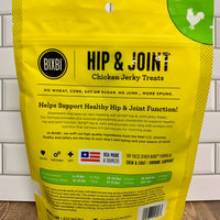 Back of bag of BIXBI Hip & Joint Chicken Jerky Treats - Nickel City Pet Pantry