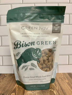 Green Juju Freeze Dried Bison 2.5 oz - Nickel City Pet Pantry