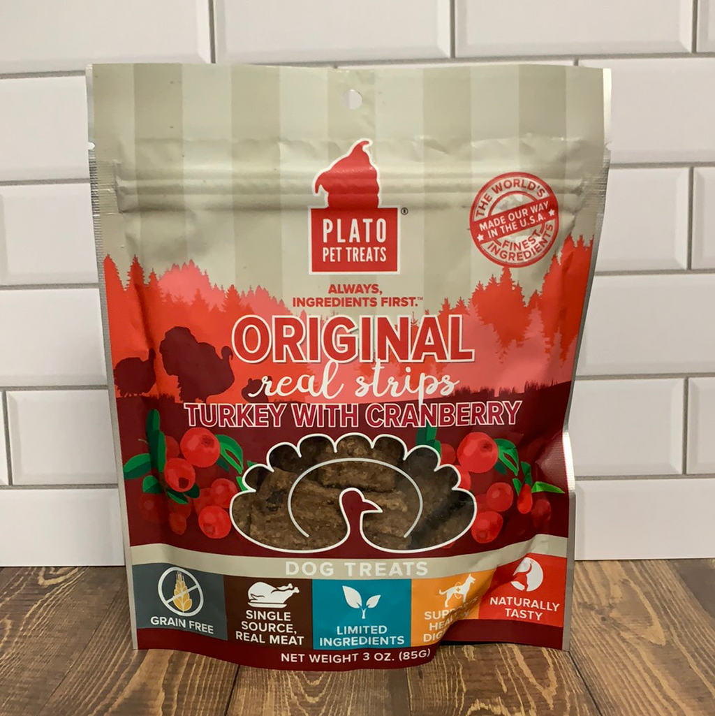 Plato Original Real Strips - Turkey w/Cranberry - Nickel City Pet Pantry