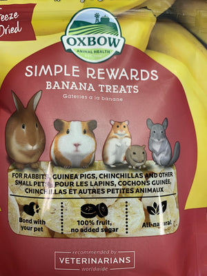 Oxbow Simple Rewards Banana Treats - Nickel City Pet Pantry