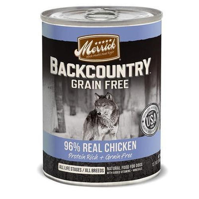 Merrick Backcountry Grain Free 96% Real Chicken Dinner - Nickel City Pet Pantry