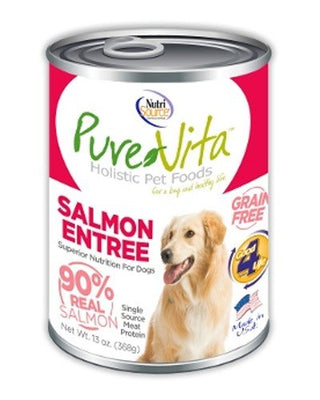 Pure Vita Canned Salmon Dog Food - 13 oz can