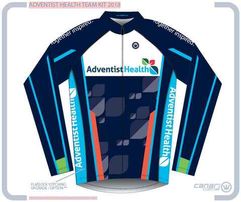 Adventist Health M Club LS Winter Jersey TT Navy